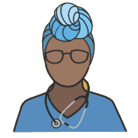 Black woman doctor icon