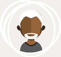 Icon of older Black man