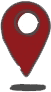 Graphic is a map pin to signify location