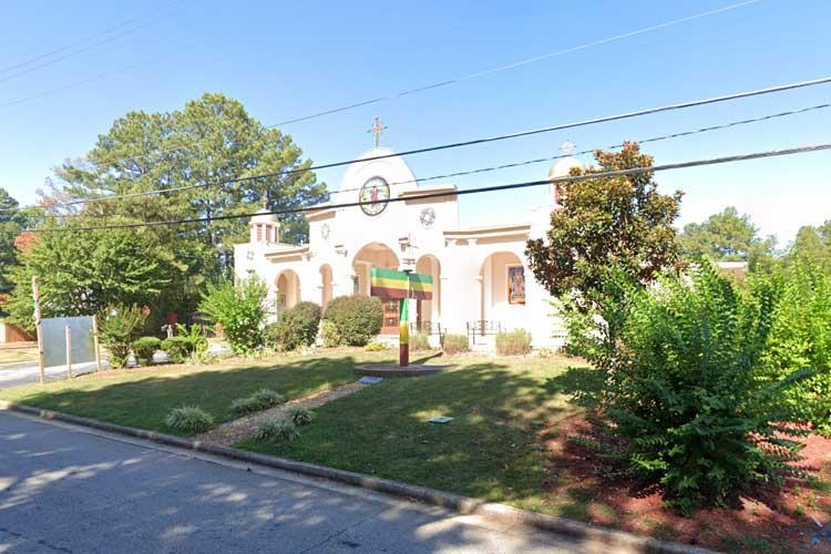Outisde image of Debre Bisrat St. Gabriel Church