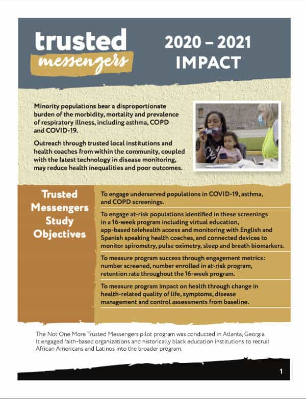 Thumbnail image of the 2020-2021 Impact report for Trusted Messengers. It links to the PDF download.